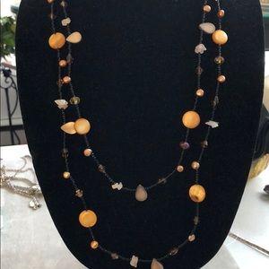 Beautiful long necklace handmade